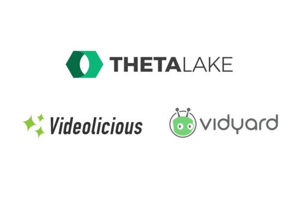Theta Lake compliance integration with Videolicious and Vidyard logo