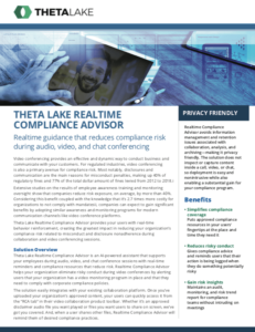 real-time compliance for video and collaboration