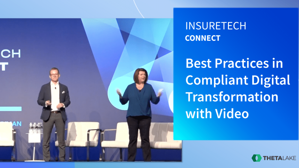 Beth Wood, SVP & CMO of Principal Financial Group and Theta Lake's CEO Devin Redmond at InsureTech Connect 2019