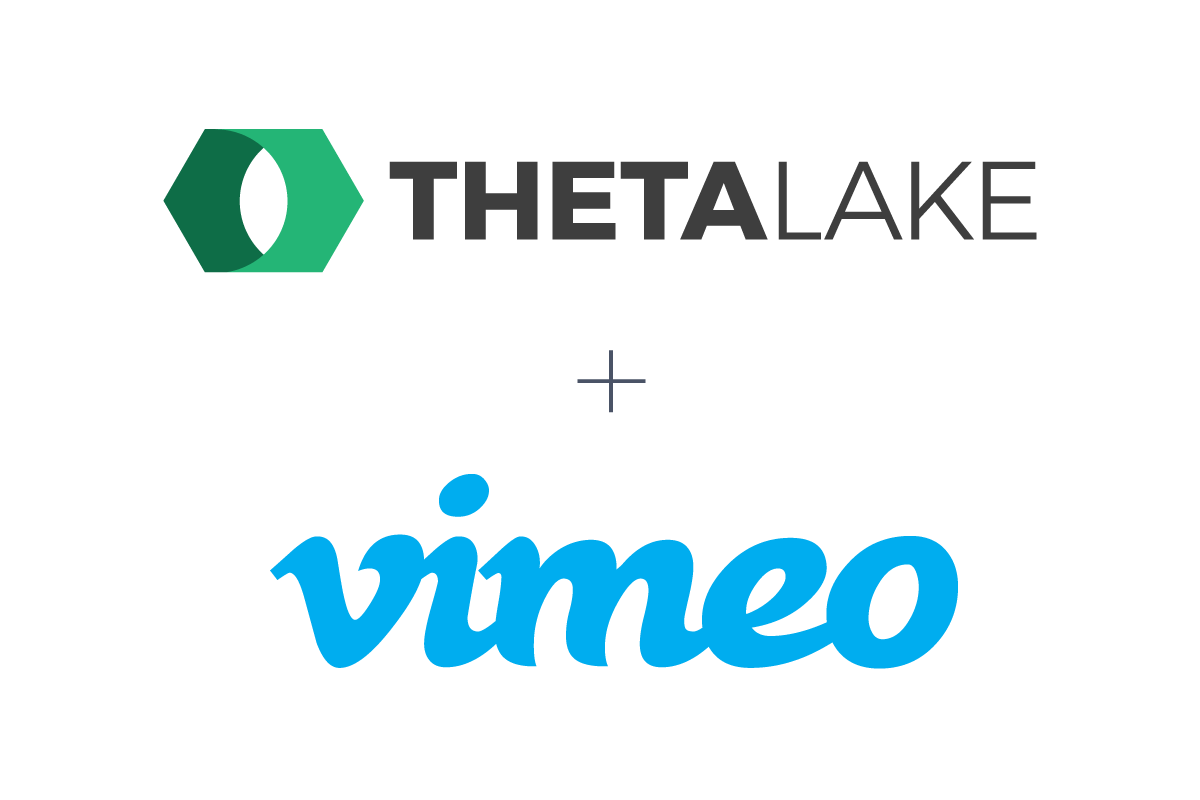 Theta Lake logo and Vimeo logo