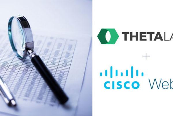 Theta Lake logo and Cisco Webex logo