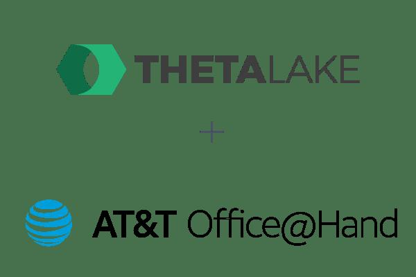 Theta Lake logo and AT&T Office@Hand logo