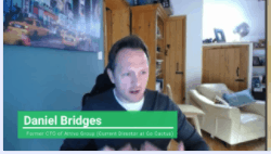 Former CTO of Attivo Group, Daniel Bridges, giving a testimonial to Theta Lake