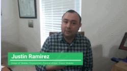 Head of Webex Ecosystem Partnerships, Justin Ramirez, giving a testimonial to Theta Lake
