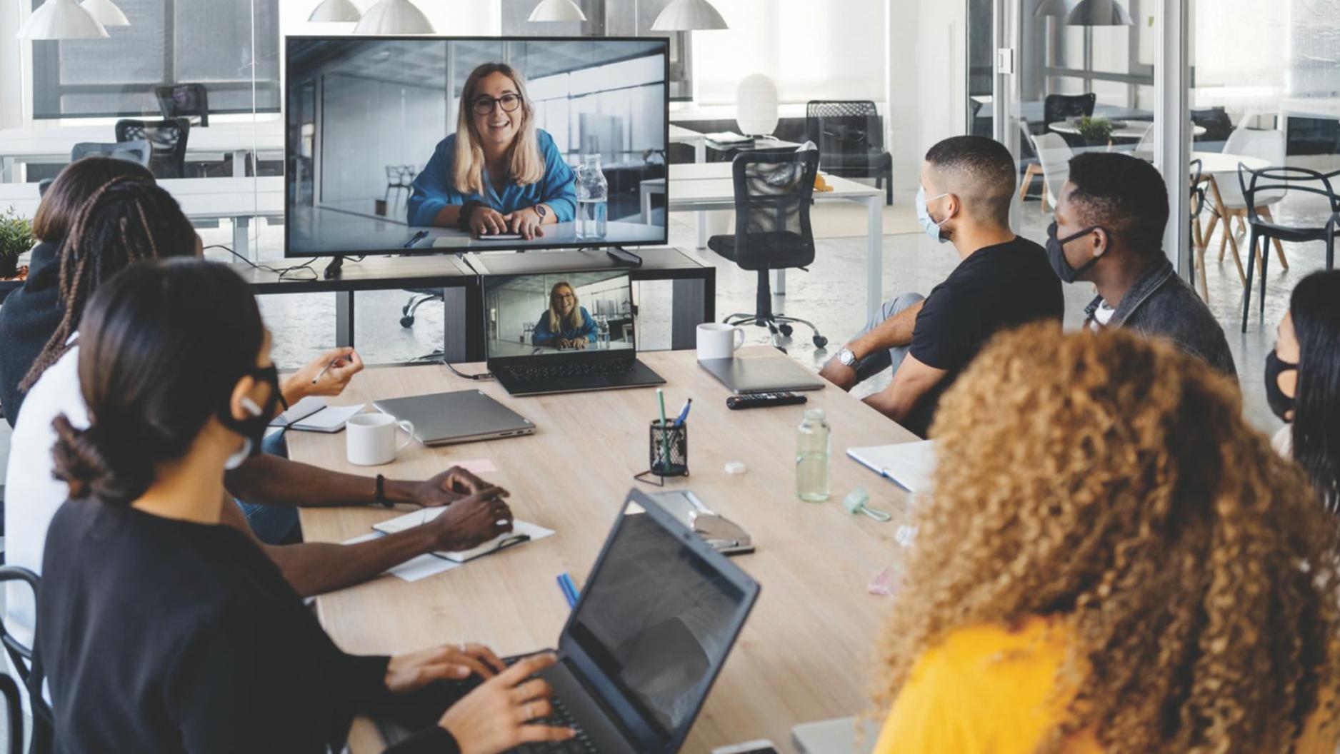 Hybrid work meeting