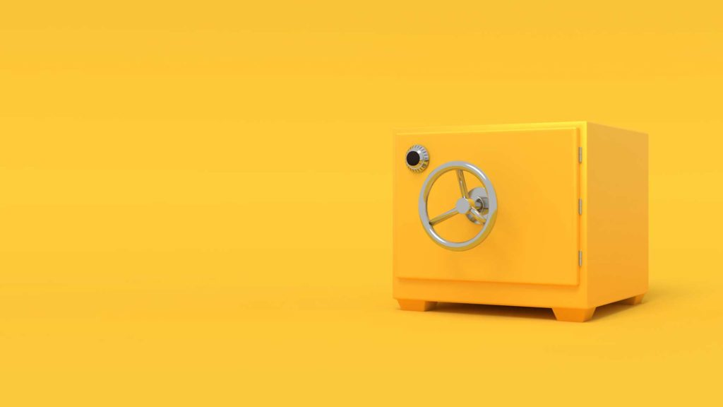yellow secure safe